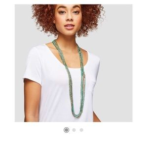 NWT beaded multi row cord necklace